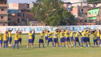 Nacional faz último treino antes de  estreia contra o Rio Negro