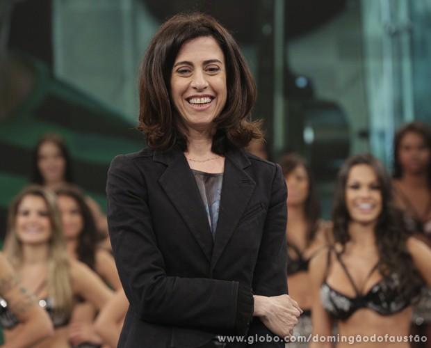 Fernanda Torres no último Domingão (Foto: Fábio Rocha / TV Globo)