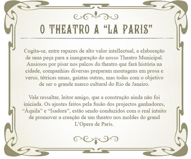 O Bonde - Teatro (Foto: Lado a Lado/TV Globo)