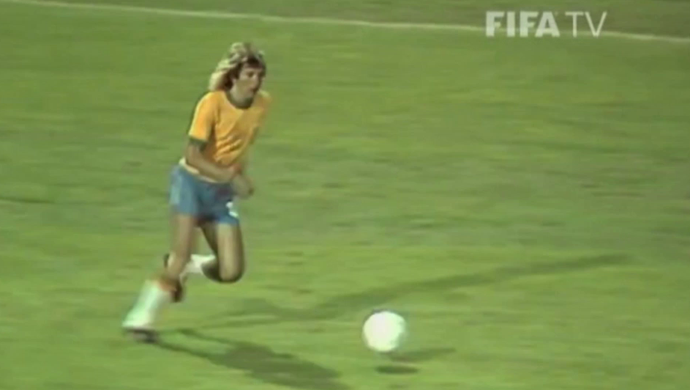Marinho Chagas na Copa de 1974 (Foto: Reprodução / FifaTV)