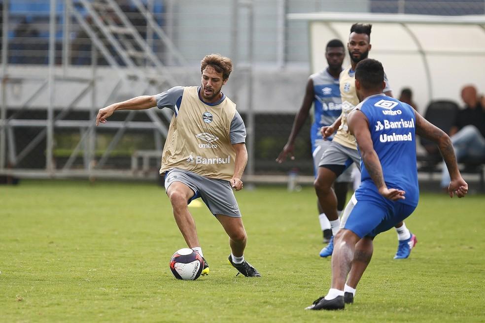 Maxi Rodríguez está de saída do Grêmio (Foto: Lucas Uebel/Divulgação)