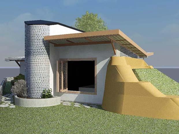 Projeto da Casa Protótipo de Autoconstrução Sustentável (PAS) desenvolvido pelo arquiteto Bernardo Andrade (Foto: Divulgação)