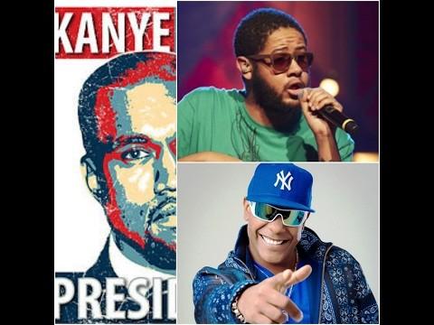 Kanye West, Márcio Victor e Emicida  (Foto: reprodução/youtube)