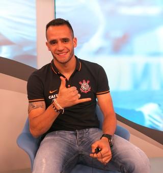 """Renato Augusto no """"Bem, Amigos!"""" (Foto: Marcos Guerra)"""