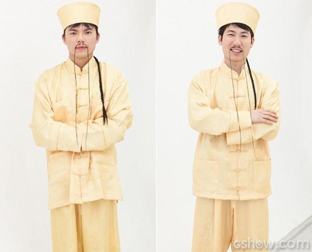 Xing e Ling vão divertir a galera no Tem Gente Atrás (Foto: Domingão do Faustão / TV Globo)