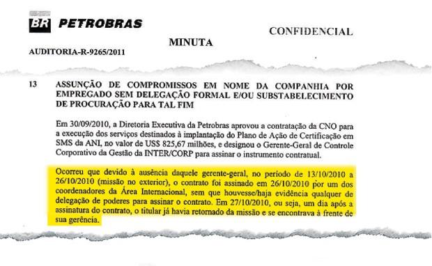 Relatório da auditoria realizada na Petrobras a que ÉPOCA teve acesso com exclusividade (Foto: Reprodução)