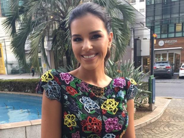 Mariana Rios  uma das apresentadoras do GNT no SPFW (Foto: GNT)