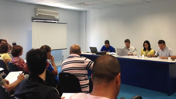 Congresso técnico Vôlei TVAB (Foto: Patrícia Costa / GloboEsporte.com)