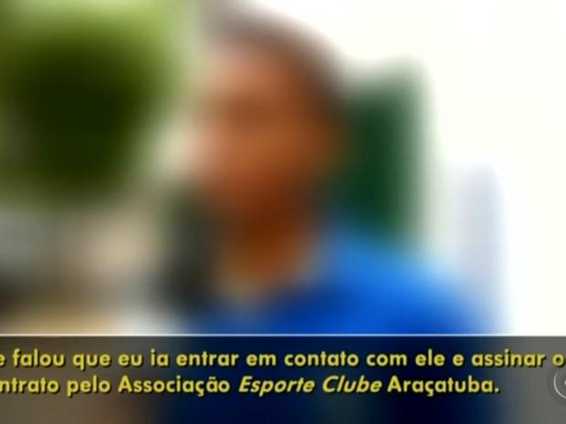 Menor disse que iria assinar contrato com empresário (Foto: Reprodução/ TV TEM)