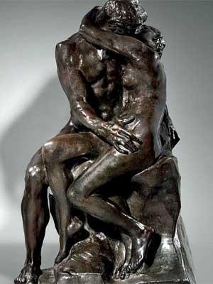 Molde de bronze da escultura do século 19 'O beijo', do francês Auguste Rodin (Foto: Reprodução / site Binoche et Giquello)