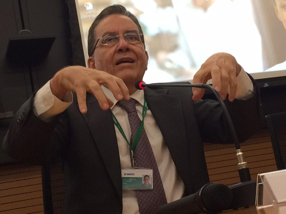 Presidente do BNDES, Paulo Rabello Castro, durante coletiva de lançamento de plataforma para MPEs (Foto: Darlan Alvarenga/G1)