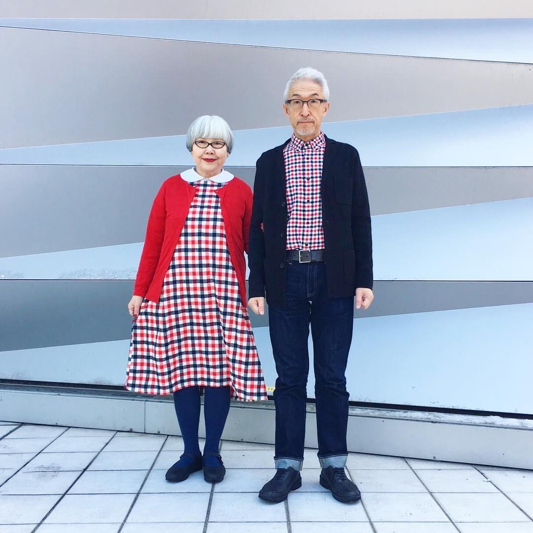 Casal japonês faz sucesso no Instagram por combinar roupas (Foto: Reprodução/Instagram)