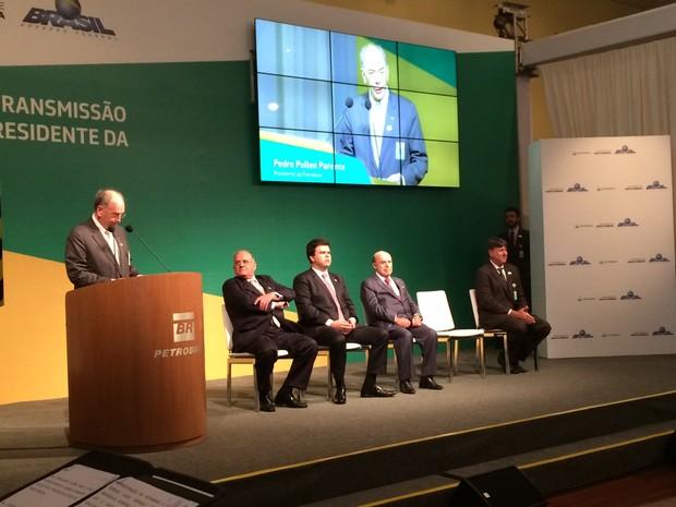 Pedro Parente, presidente da Petrobras, fala nesta quinta-feira (2) (Foto: Cristiane Caoli/G1)