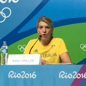 Coletiva da Austrália na Vila dos Atletas da Rio 2016 (Foto: Gustavo Rotstein )