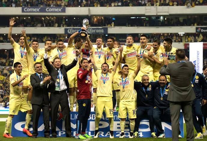 Comemoração do América do México, Campeonato Mexicano (Foto: Reprodução / Facebook)