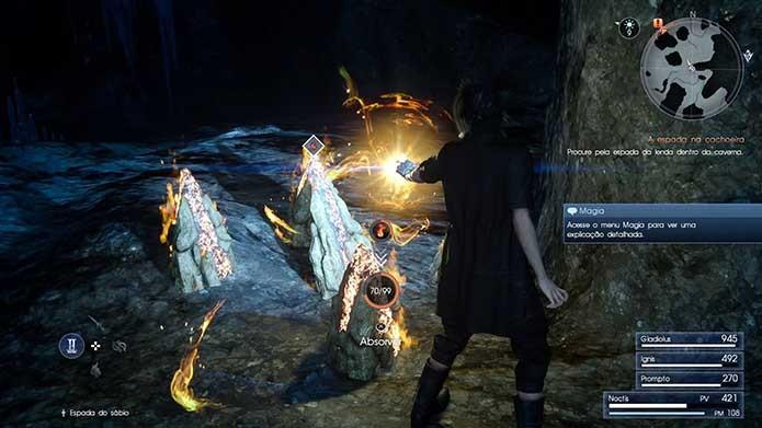 Colha itens em Final Fantasy XV (Foto: Reprodução/Murilo Molina)