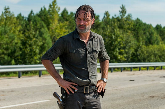 Rick Grimes (Andrew Lincoln) em 'The walking dead' (Foto: Gene Page/ AMC)