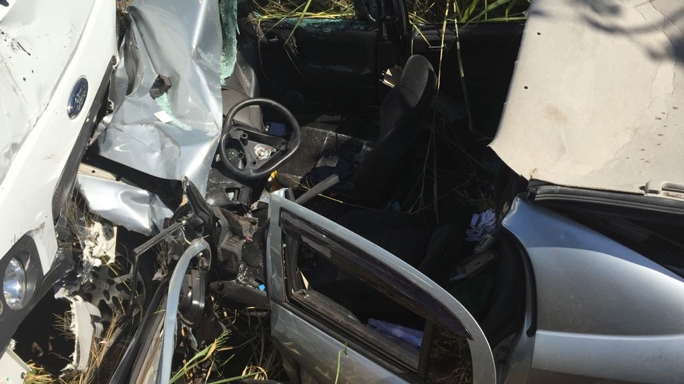 Acidente ocorreu nesta quarta-feira (12), na Rodovia da Integração (Foto: Corpo de Bombeiros/Divulgação)