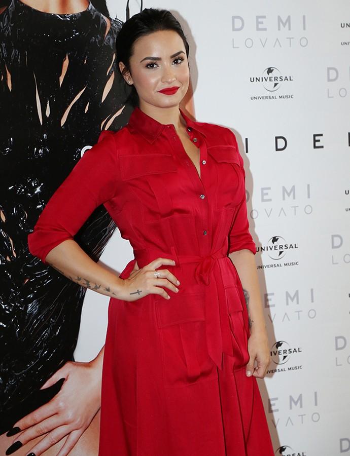 Demi Lovato prometeu que voltará ao Brasil com turnê do novo álbum (Foto: Carol Caminha/Gshow)