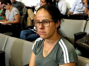 Alinne Ribeiro é viúva de uma das vítimas da tragédia em Mariana (Foto: Flávia Cristini/ G1)