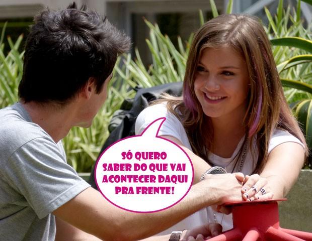 Awwnnnn! Que fofo! Tomara que eles sejam muito felizes! (Foto: Malhação / TV Globo)