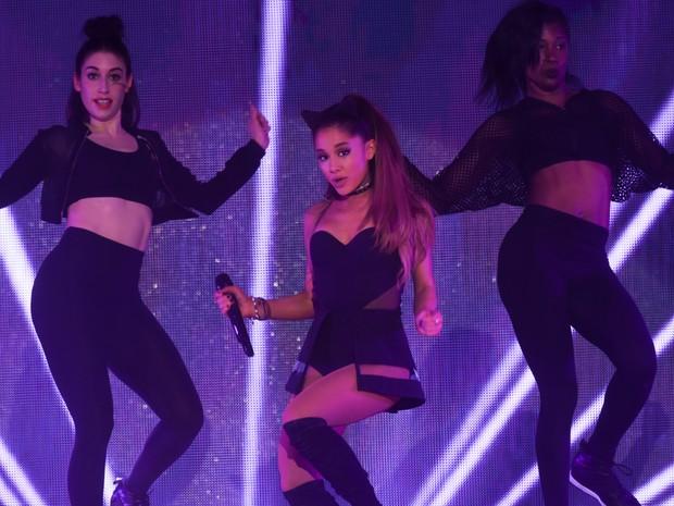 Ariana Grande em seu único show no Brasil, que aconteceu neste domingo (25) no Allianz Parque, em SP (Foto: Flavio Moraes/G1)