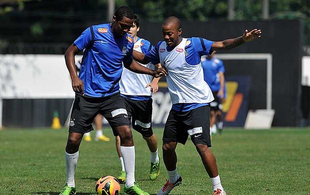 Renato Abreu e Victor Andrade, treino do Santos (Foto: Ivan Storti / Santos FC)