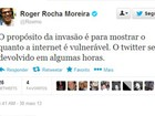 Twitter do cantor Roger, do grupo Ultraje a Rigor, é invadido por hacker