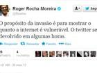 Roger recupera conta no Twitter após invasão de perfil por hacker