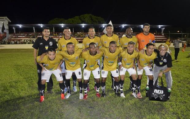 Santos vence o Trem no jogo de abertura do estadual, no Amapá (Foto: Jonhwene Silva, do GE-AP)