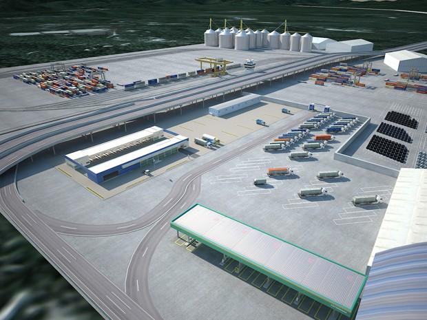 Plataformas logísticas iriam agilizar o descarregamento de produtos no Porto de Santos (Foto: Contern/Divulgação)