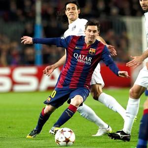 Messi, Barcelona X PSG (Foto: Agência Reutes)