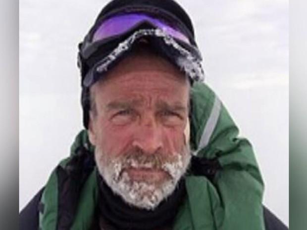 Britânico Henry Worsley, de 55 anos, morreu tentando cruzar Antártida sozinho (Foto: BBC)