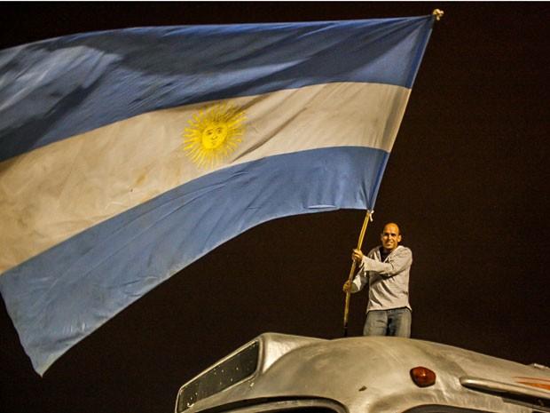 Argentinos prometem fazer festa na capital paulista (Foto: Taba Benedicto/Futura Press/Estadão Conteúdo)