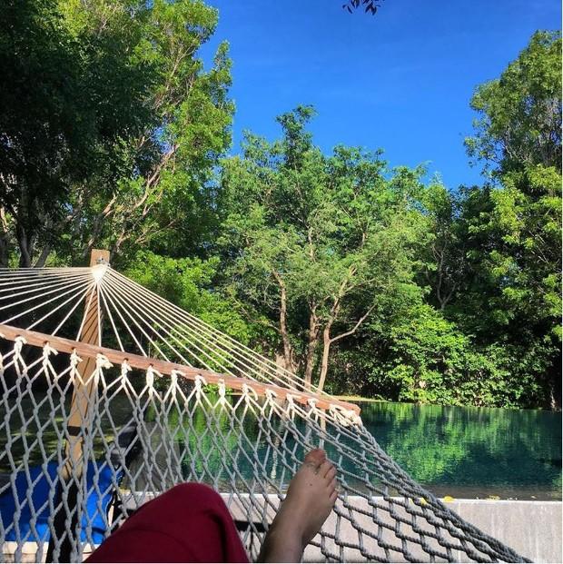 Pally Siqueira e Fábio Assunção no Caribe: paz e tranquilidade (Foto: Reprodução/Instagram)