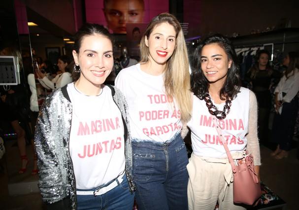 Camila Assreuy, Pauli Merlo e Alline Cury (Foto: Marlon Brambilla)