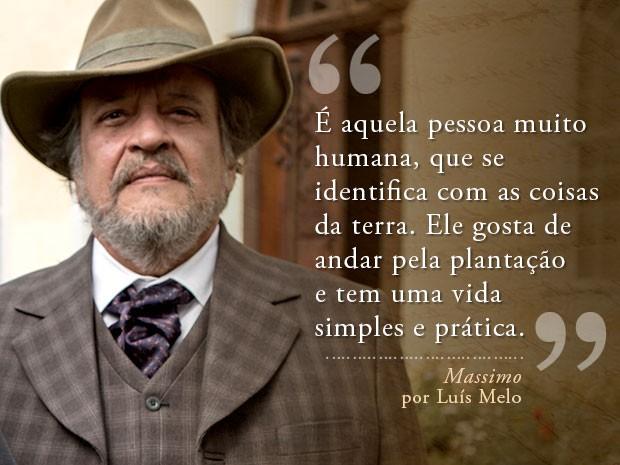 Card Massimo - Luís Melo (Foto: Fábio Rocha/Gshow)