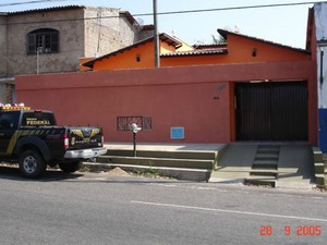 Casa no Bairro Mondubim, que serviu de apoio à quadrilha e onde a Polícia Federal encontrou o dinheiro roubado do Banco Central (Foto: Divulgação)