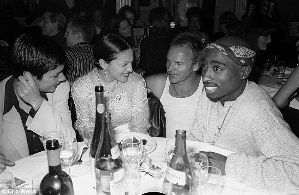 Madonna e Tupac (Foto: Daily Mail)