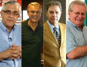 Petraglia, Ribeiro, Malucelli e Bohlen: reunião pode ser o início da retomada da Copa Sul Minas (Foto: Arte Globoesporte.com)