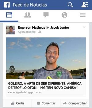 Emerson Mateus compartilha informações do Piauí com presidente Jacob Júnior (Foto: Reprodução/Facebook)