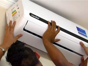 O cargo de mecânico de ar-condicionado e refrigeração tem salário de até R$ 2,5 mil (Foto: Reprodução / EPTV)