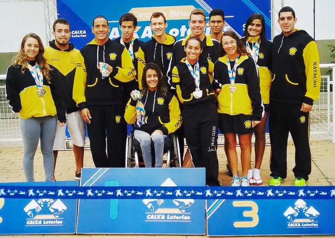 Equipe de natação paralímpica do Praia Clube em Uberlândia (Foto: Arquivo Pessoal/Alexandre Vieira)