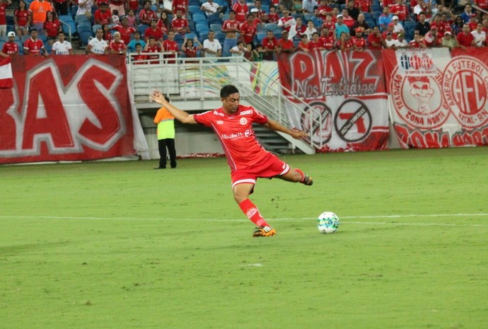 Gol Lúcio Curió América-RN x Salgueiro Arena das Dunas Série C (Foto: Canindé Pereira/América FC/ Divulgação)