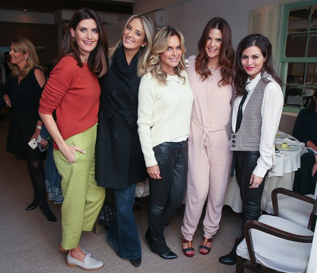 Isabella Fiorentino, Ticiane Pinheiro, Fernanda Barbosa, Mariana Kupfer e Natalie Klein (Foto: Manuela Scarpa/Brazil News)