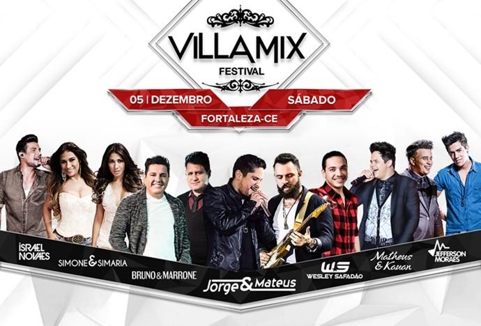 Villa Mix Fortaleza 2015 acontece na Arena Castelão no dia 05 de dezembro. (Foto: Divulgação)