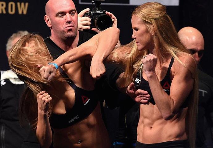 Ronda Rousey x Holly Holm, UFC 193 (Foto: Reprodução / Instagram UFC)