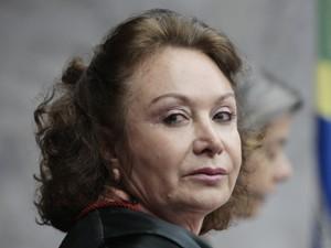 Ministra do TSE Nancy Andrighi, relatora do registro do PSD, durante julgamento da criação do partido (Foto: Carlos Humberto./ASICS/TSE)