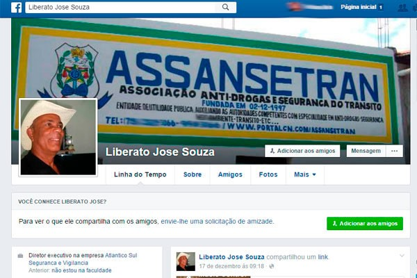 Presidente de associação antidrogas de Feira é encontrado morto em casa (Foto: Reprodução/Facebook)