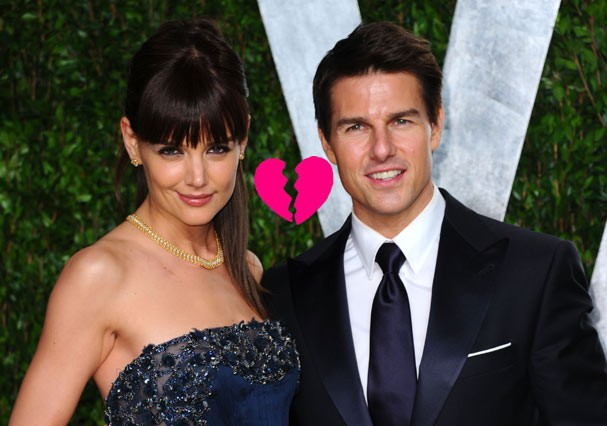 Katie Holmes e Tom Cruise na festa pós Oscar da Vanity Fair, no começo de 2012 (Foto: Getty Images)